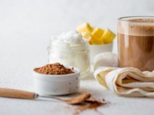 Броне кофе с кокосовым маслом и шоколадом