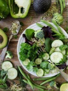 Зеленые овощи на кето