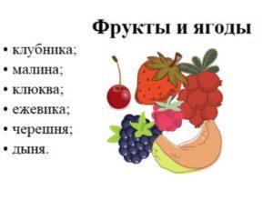 Кето диета меню и фрукты