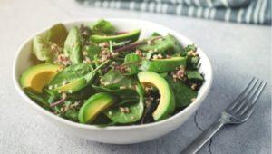 Веганские кето салаты с авокадо