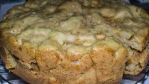 Яблочный кето пирог с орехами
