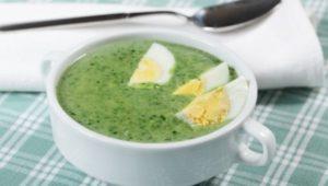 Рецепты кето супов - суп из шпината и спаржи