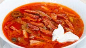 Кето супы - мясная солянка