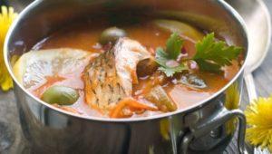 Рыбный кето суп