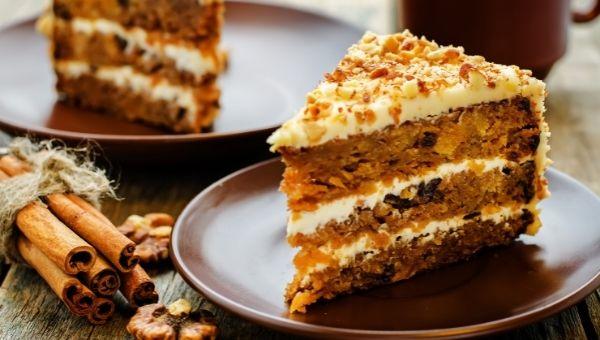 Кето морковный торт